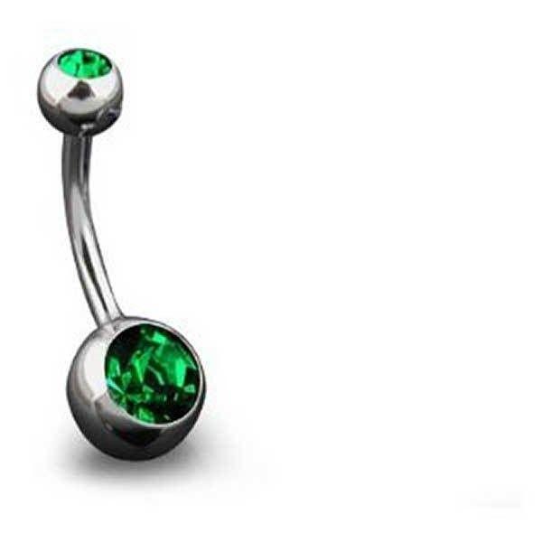 Bling Jewelry Green Body Charmer Body Jewelry ($9.99) ❤ liked on Polyvore featuring jewelry, body jewelry, body-piercing-rings, green, imitation jewelry, stainless steel jewellery, body jewellery and fake body jewelry