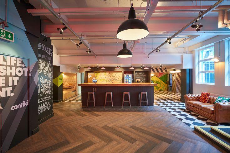Contiki Basement - Office interior  #handpainted #typography #interiorgraphics