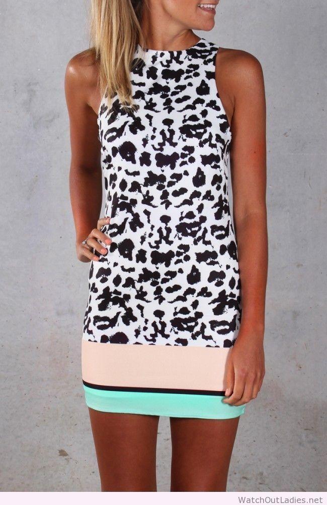 Wonderful summer dress with print