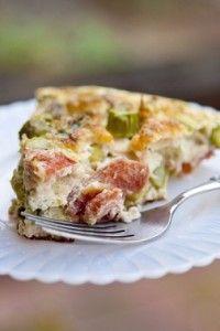 Crustless Asparagus Quiche - under 60 calories per serving