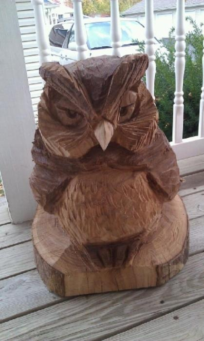 Owl carving for a friend's birthday. Hope they like it!