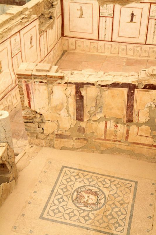 Ephesus, still after many years since visiting, captivates my imagination. The terrace houses.