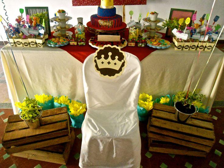 mesa de dulces medieval