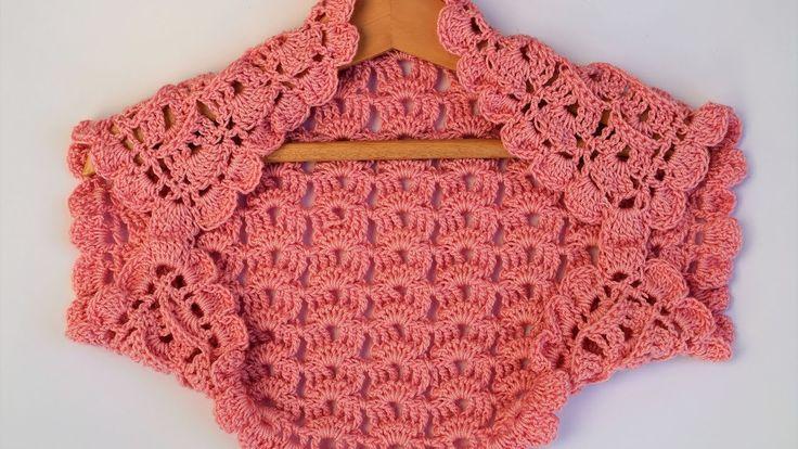 Bolero o torera niña a crochet muy facil a juego con vestido