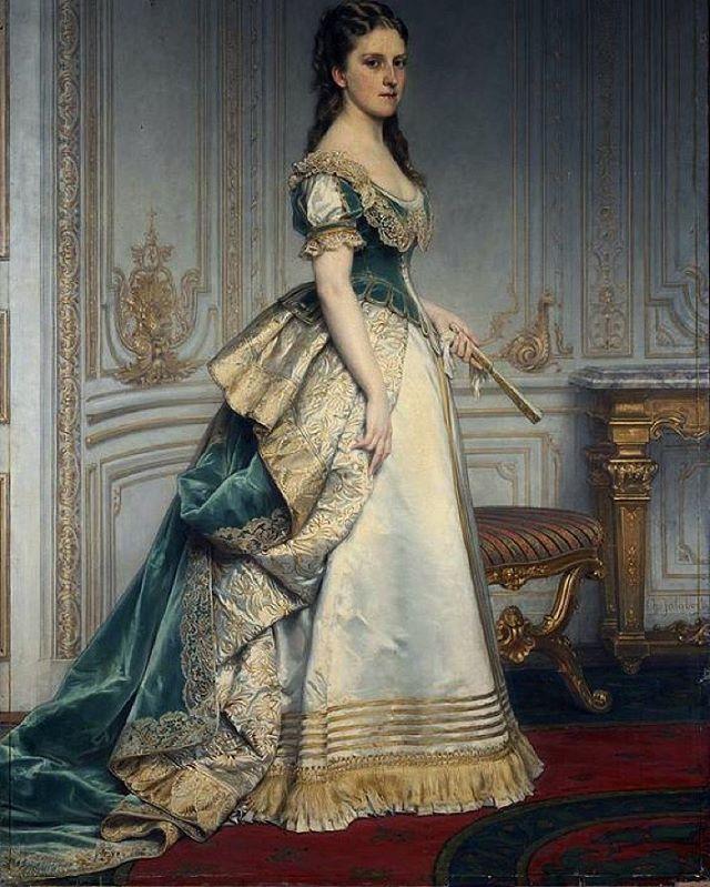 Portrait of Nadezhda Mikhailovna Polovtseva, by Jalabert Charles Francois (1819-1901), ca. mid 19th century. State Hermitage Museum