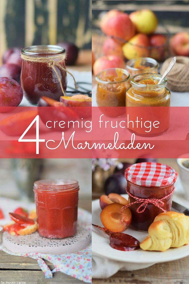 Marmeladen Rezepte ohne Gelierzucker - mit Apfelpektin gekocht.