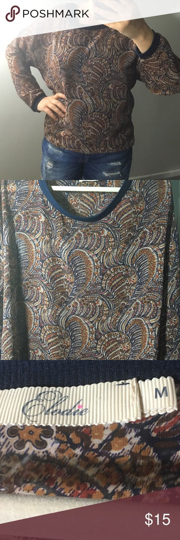 Elodie sheer blouse Beautiful pattern and blue and brown colors. Sheer blouse. EUC. Elodie Tops Blouses - women's business blouses, short blouse, black and white patterned blouse *sponsored https://www.pinterest.com/blouses_blouse/ https://www.pinterest.com/explore/blouses/ https://www.pinterest.com/blouses_blouse/white-lace-blouse/ http://www.landsend.com/shop/womens-shirts-blouses-blouses/-/N-fxw?brandCode=classic