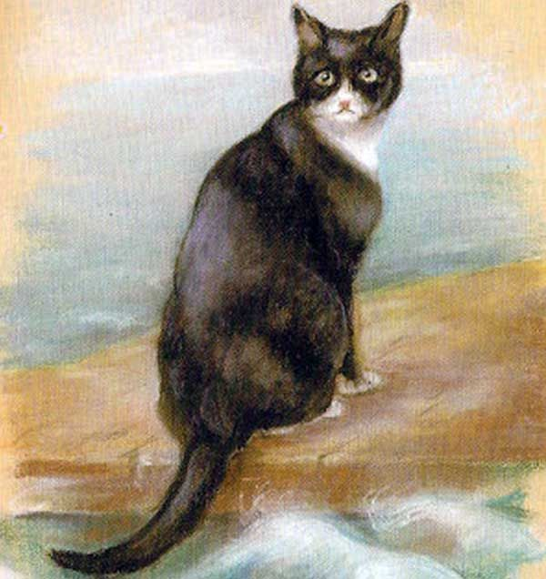 Georgina Shaw-Baker painted this portrait of Unsinkable Sam.