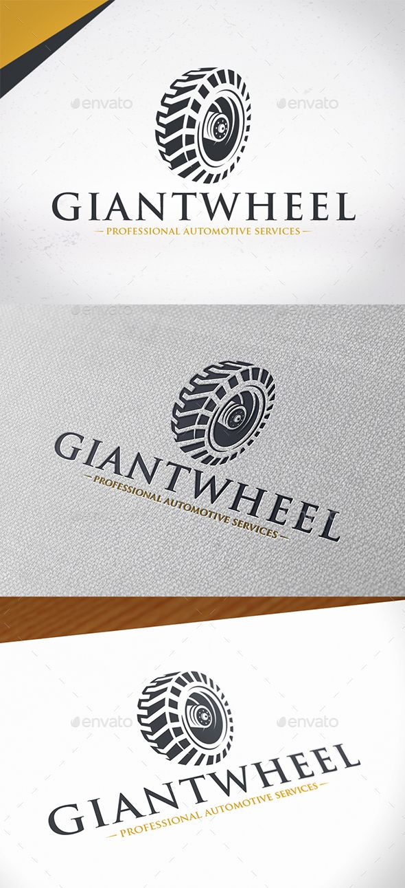 Giant Wheel Logo Template — Photoshop PSD #manufacturing #gear logo • Download ➝ https://graphicriver.net/item/giant-wheel-logo-template/19680044?ref=pxcr