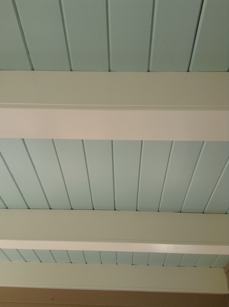 Paint the shiplap ceiling Haint Blue: BM, Woodlawn Blue HC-147 (Haints Blue Porch Ceiling). #LGLimitlessDesign & #Contest