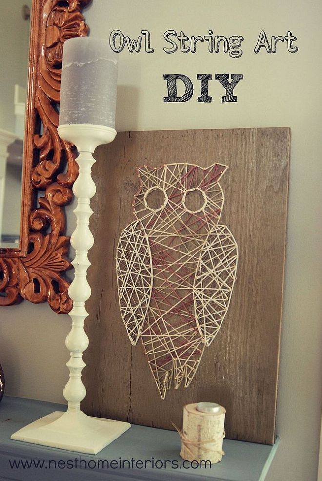 Owl String Art DIY Pinned by wwwmyowlbarncom