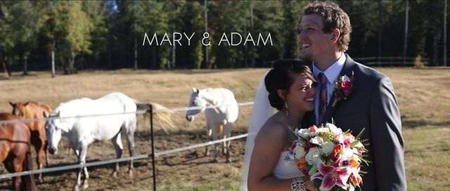 Mary & Adam | Alabama Wedding Film by Hampton Road Studios. We can't say enough about how much fun we had being a part of Mary and Adam's wedding! They were married in Mary's horse arena with family and friends from around the world! The barn was decorated with memories from throughout their life. From childhood to the Olympics, swimming to horses, and everything in between. Enjoy their film...  Blog Post: hamptonroadstudios.com/2012/11/mary-adam-alabama-wedding/
