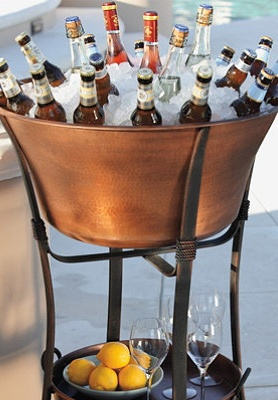 Shop Frontgateu0027s collection of copper beverage tubs, ice boxes and beverage  dispensers for your next soiree. These high quality