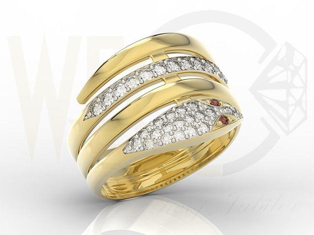 Pierścionek z żółtego złota z pięknymi kamieniami szlachetnymi/ Ring made from yellow gold with beautiful jewels/ 1 377 PLN #ring #jewels #jewellery #gift