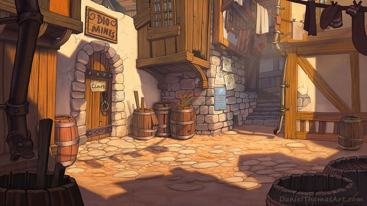 """Background Art made for a Point and Click game called 'A Playwright's Tale"""""""