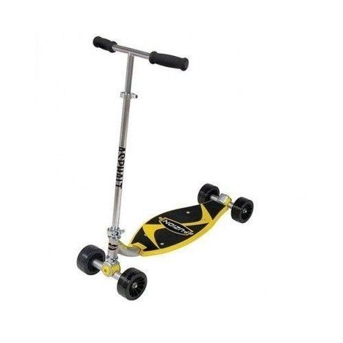 Fuzion Scooter Asphalt 4-Wheel Wide Deck Ride Ultimate Carving Stunt Kick Sports