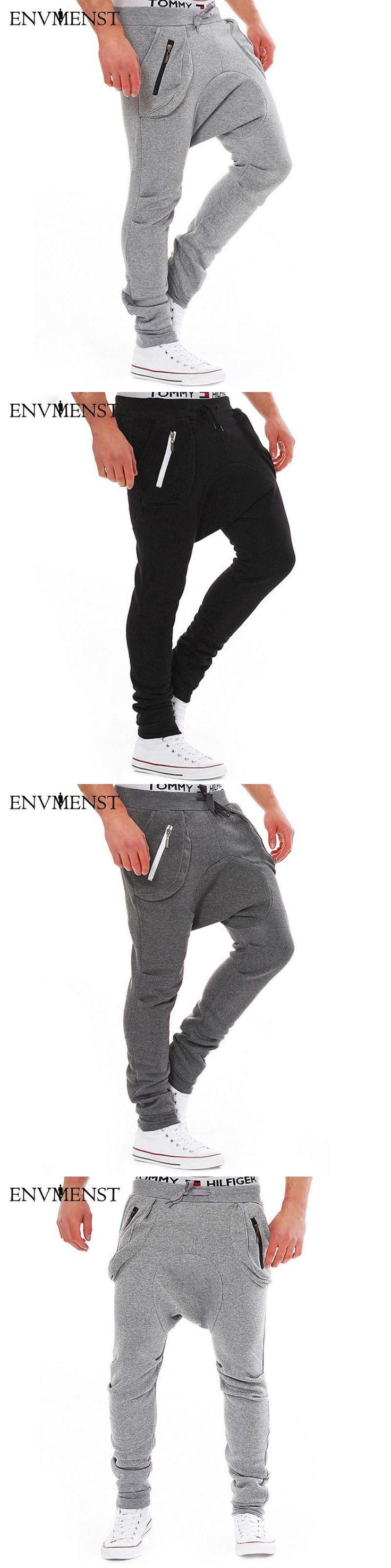 2017 New Fashion Men's Jogger Pants Men Loose Hip Hop Harem Joggers Cotton Solid Comfort Casual acting Sweatpants Trousers