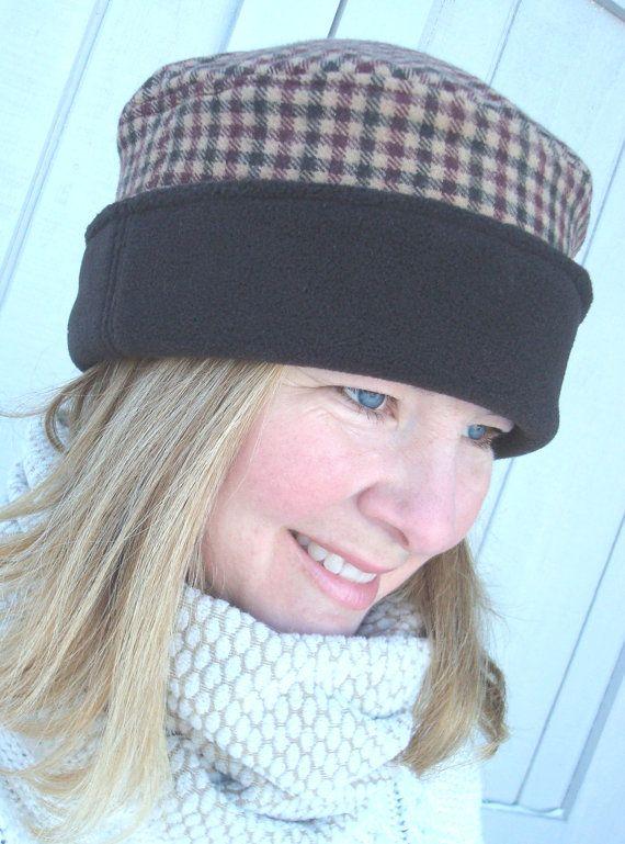 New Polar Fleece Hat for Women Reversible by BoundtobeCreative, $24.50