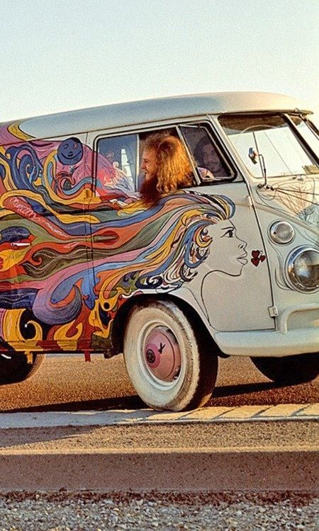 Artsy hippie bus & hippie boy :-)
