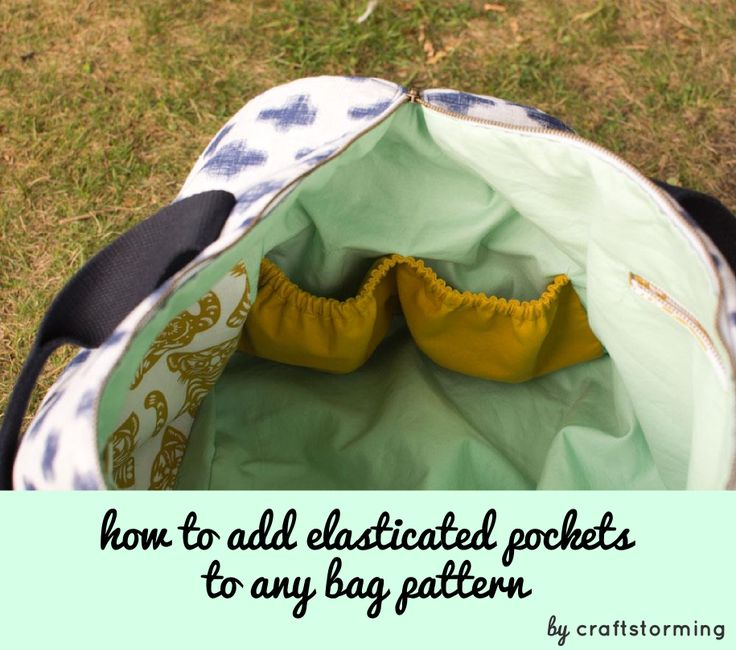 In my last post I showed you Portside Duffle bag that I made for the Great Pattern Hack. My hack was to add a lot of interior pockets, including double elasticated pockets at both ends of the bag. Today I am sharing how I added these. This method could easily be applied to other bag patterns.  ...