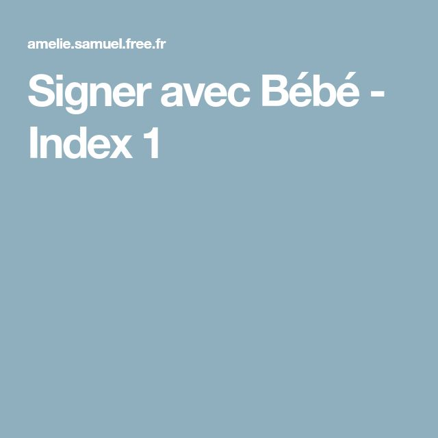 Signer avec Bébé - Index 1