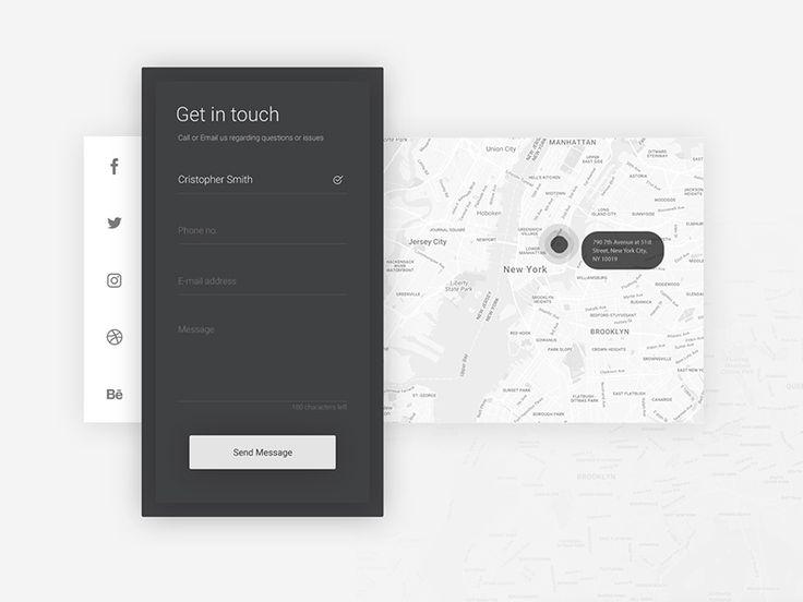 Contact Form Concept PSD - Mockuplove