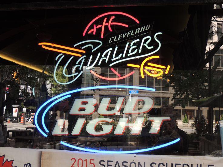 Neon Beer Sign Bud Light Cleveland Cavaliers Nba