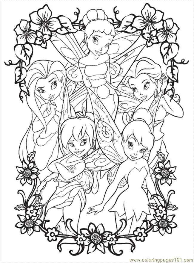 Free Printable Coloring Image Disney Fairy5 Tinkerbell Coloring Pages,  Fairy Coloring Pages, Disney Coloring Pages