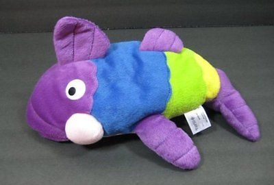 "13"" PETE THE PERCH Fish Fiesta Purple Blue Green Yellow Bean Bag Plush  B230"