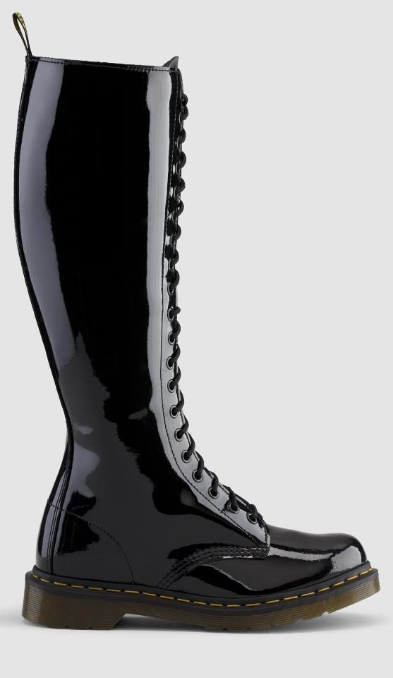 Dr Martens 20 Eye 1b60 Boot In Black Patent Leather In