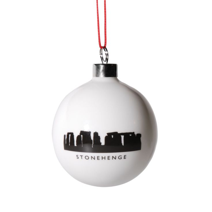 Give your tree a touch of pagan magic with one of these beautiful bone china Christmas baubles. Made exclusively for English Heritage to celebrate the mystical ancient stones at Stonehenge, they are original and striking Christmas decorations for your home as well as wonderful keepsake souvenir gifts.