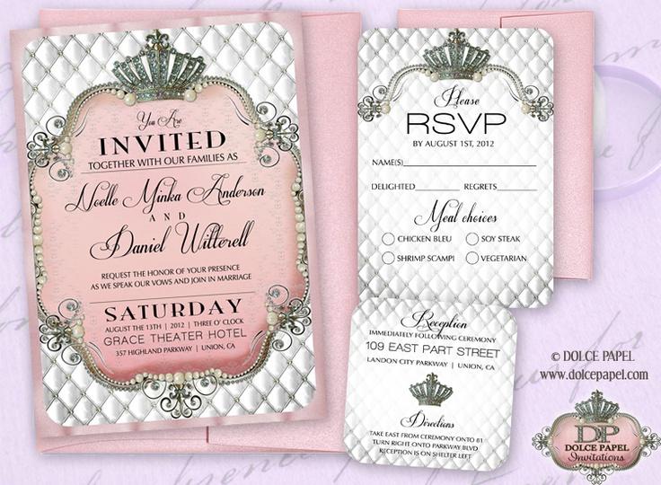 Fairy tale wedding invitations ideas