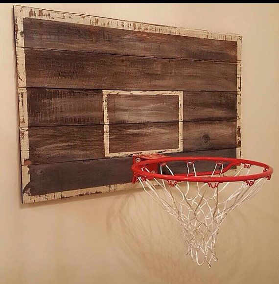 Basketball backboard. 32 x 24 old wood backboard, just add your own hoop and your ready to go!  *HOOP NOT INCLUDED!  Painted and sealed with wax, for a vintage feel.  Custom colors a $10 fee will apply Rush orders add $20  Please message me to add custom colors or designs.