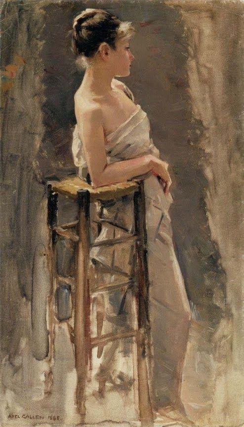 Akseli Gallen-Kallela (26 aprilie 1865 - 7 martie 1931), pictor şi grafician finlandez  - The Model