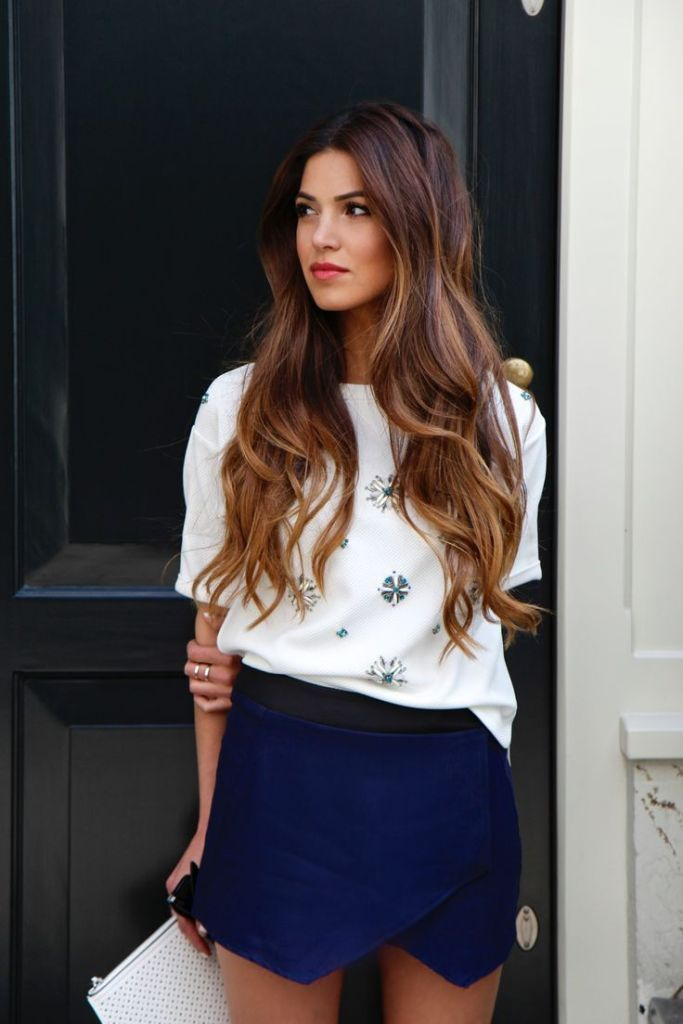Dark chocolate brunette hair with honey blonde and caramel balayage; my hair goal.