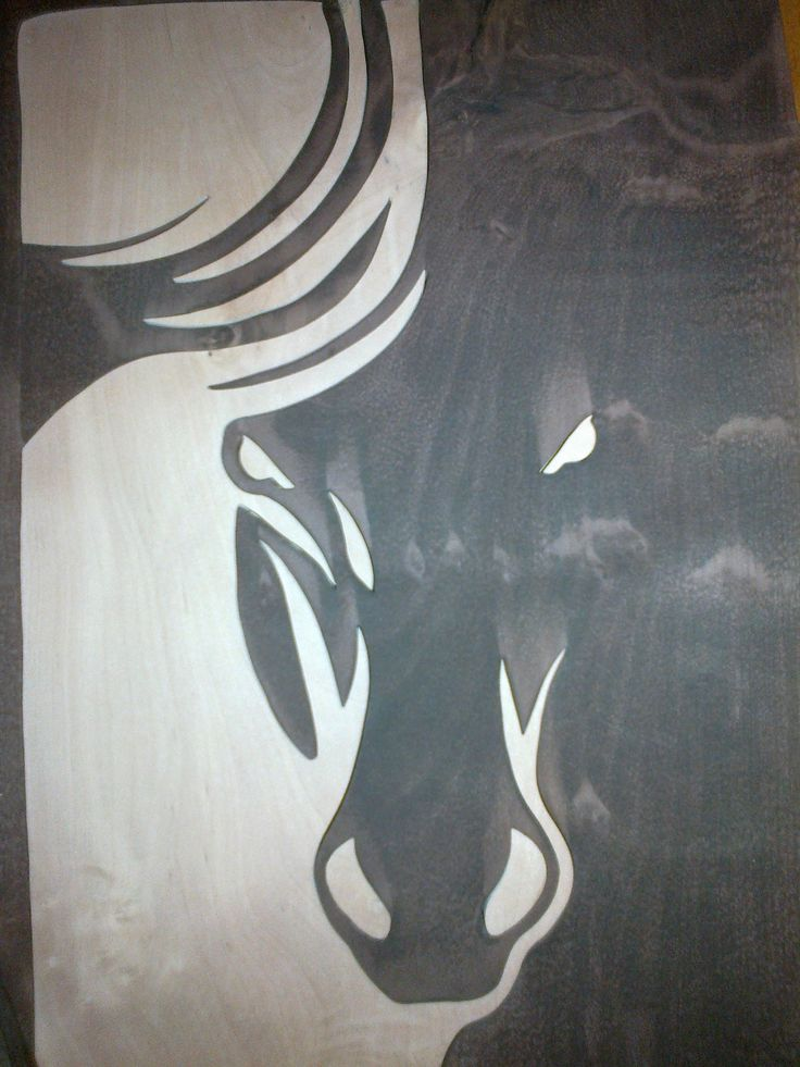 horse wood picture