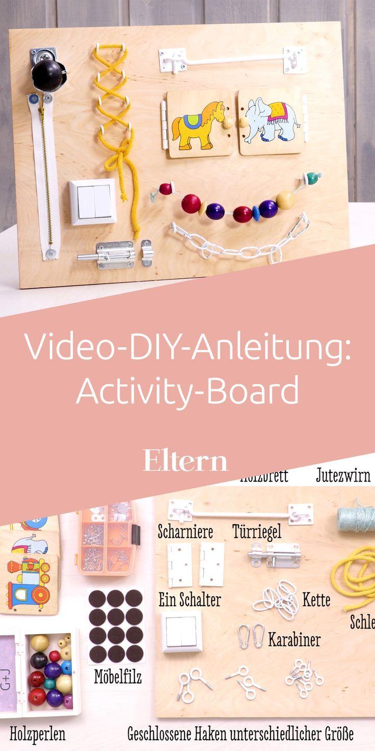 Für Babys und Kleinkinder: Activity-Board selber machen