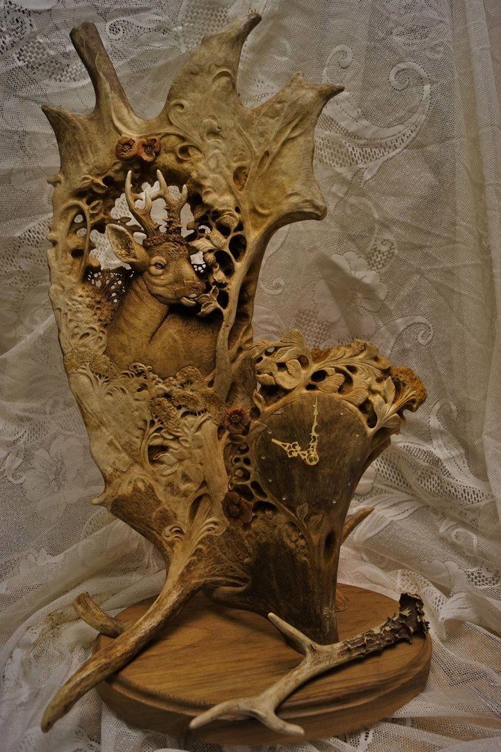 Best antler bone carving red deer images on pinterest