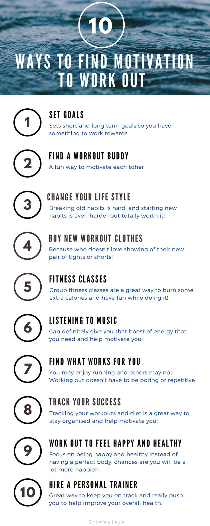 Getting into the gym or outside for a run just seems impossible sometimes. Here at 10 ways to help you find your motivation to workout!