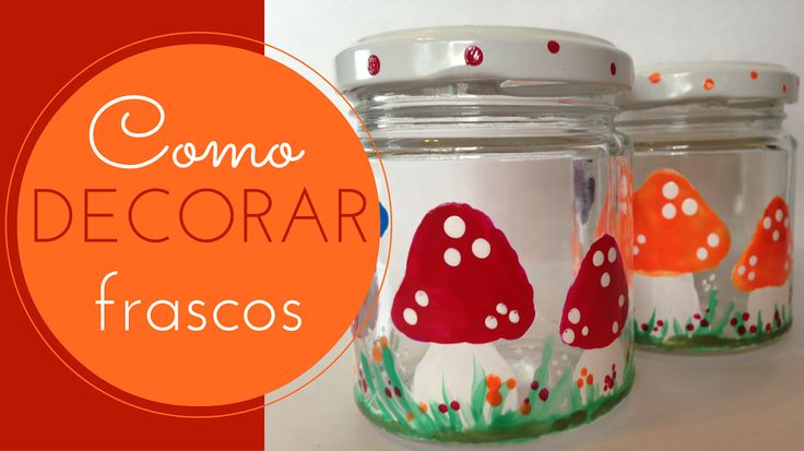 Seguro que tienes por casa pintauñas de colores que ya no te pones. ¡Aprovéchalos y, de paso, reutiliza tarros de vidrio!