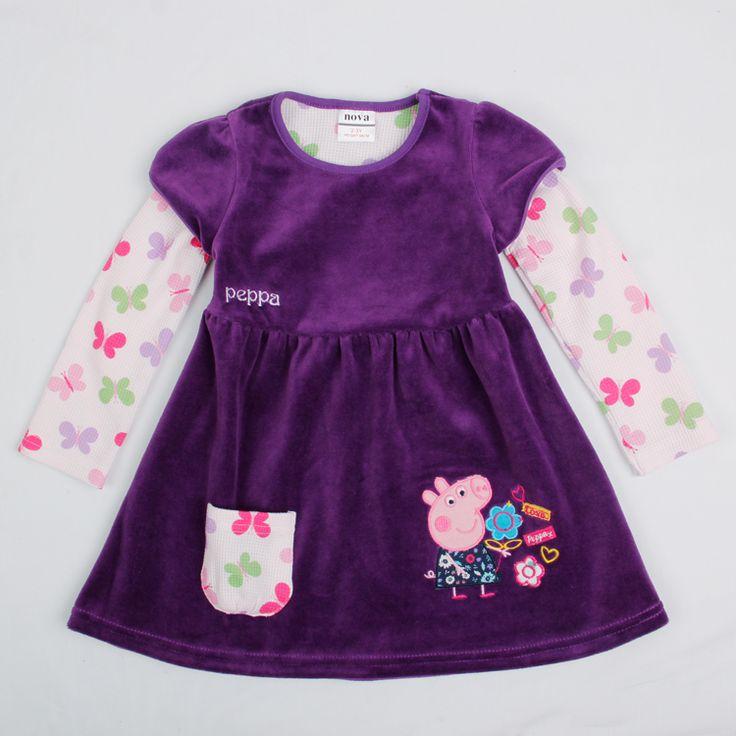 Vestido Morado Peppa Pig, Tallas 12 meses a 5 años, Valor 9.990.-
