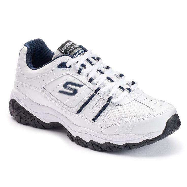Skechers After Burn Memory Fit Strike On Men's Walking Shoes, Size: 10.5 Wide, White Oth