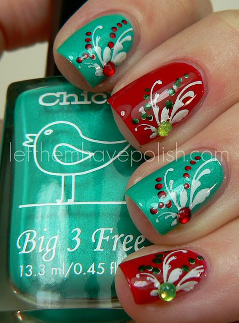 Such cute Xmas colors!