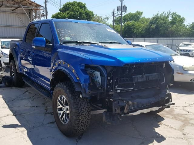 Salvage 2018 Ford F150 Svt Raptor Work Truck Car Insurance