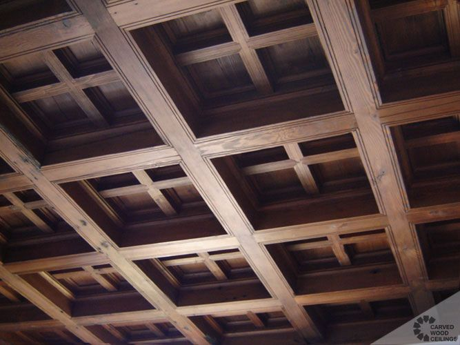 What are coffered ceilings? Pictures of old Spanish wood