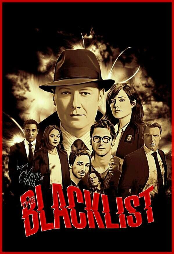 The Blacklist - Fanart Art Print by VerucArts