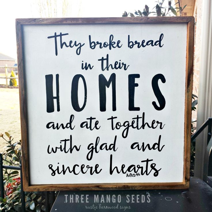 Rustic Wood Acts Sign 17 X Broke Bread Kitchen Decor Scripture Art Dining Room Wall Christian Bible Verse By Mangoseedmarketplace