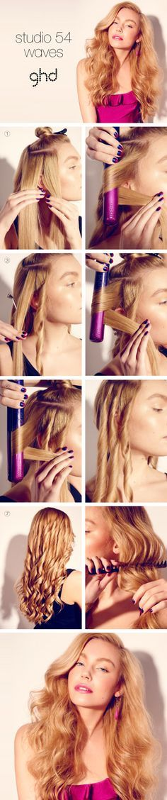 How-to hair: Studio 54 waves Create these BIG, brushed-out waves for HIGH-GLAMOUR HAIR.