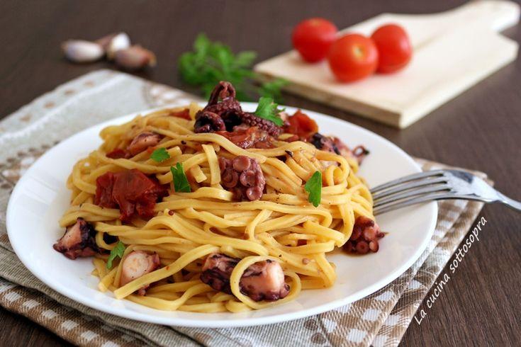 Pasta+al+polpo+-+primo+piatto+facile