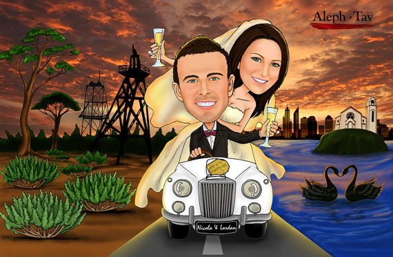 Personalised your BIG WEDDING DAY with Custom Carricatures! We are offering a new series of personal caricature drawings online.  You just need